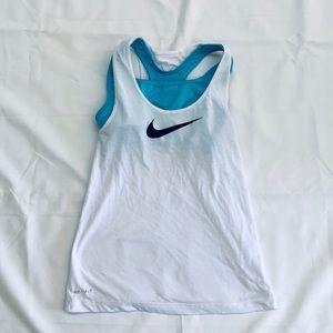 Girls Nike Dri-fit tank with attached sports bra